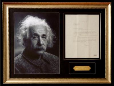 Автограф Альберта Эйнштейна