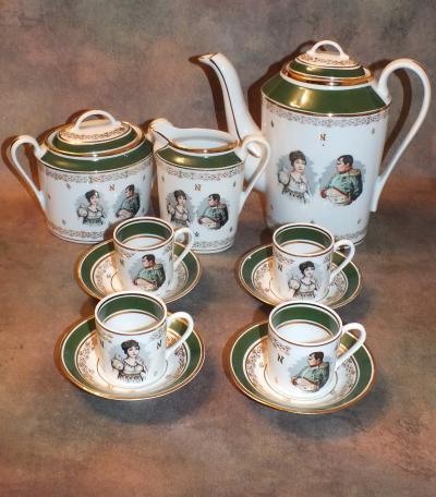 Кофейный сервиз на 4 персоны Наполеон и Жозефина