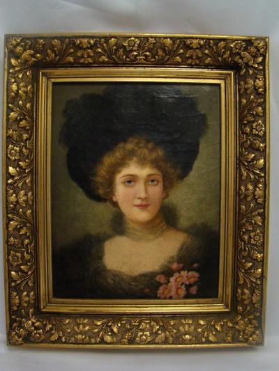 Портрет дамы в чёрной шляпе