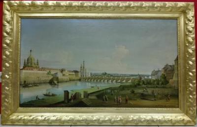 Дрезден с правого берега Эльбы выше моста Августа