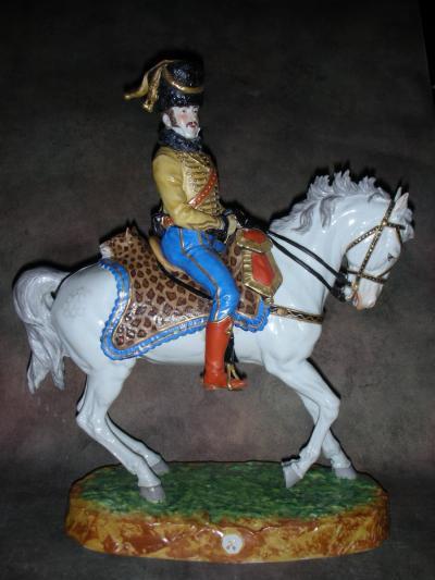 Принц Люсьен Мюрат на коне