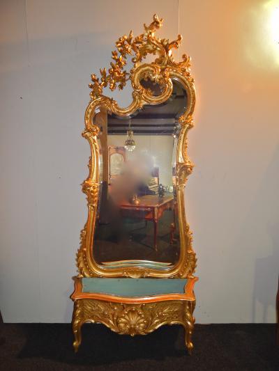 Зеркало с цветочницей, XIX век.