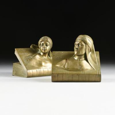 Подставки для книг Данте и Беатриче