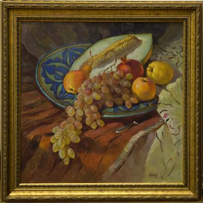В. Лысов. Натюрморт с блюдом