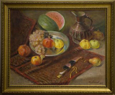 В. Лысов. Натюрморт с ковром и кинжалом