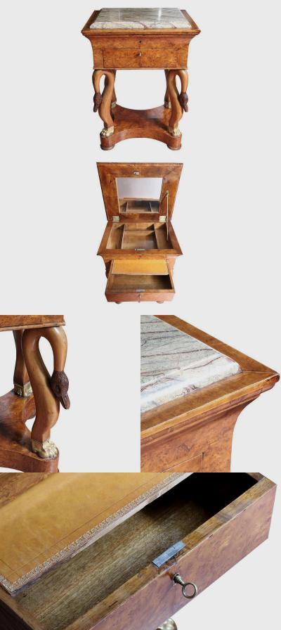 Дамский столик в стиле модерн, Лебеди