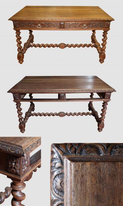 Ореховый письменный стол