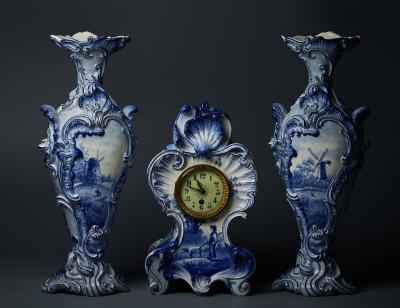 Каминный гарнитур XIX века Delft