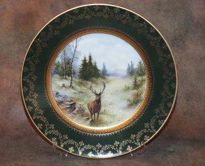 Тарелка с изображением оленя