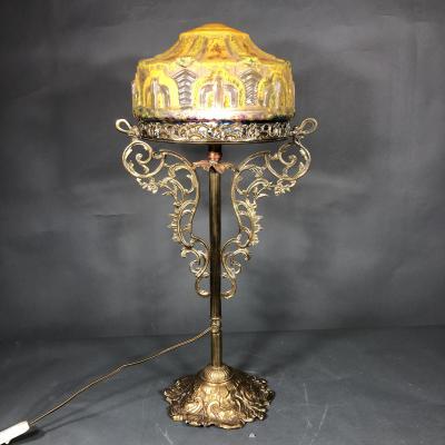 Высокая лампа ар-нуво нач. XX в