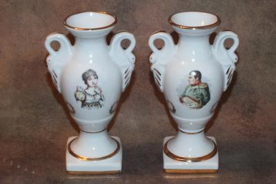 Парные вазы Наполеон и Жозефина