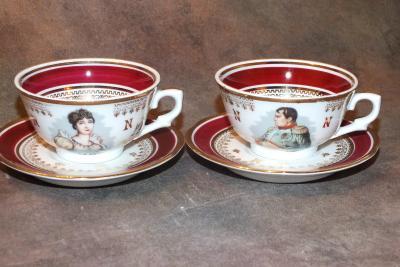 2 чайных пары Наполеон и Жозефина