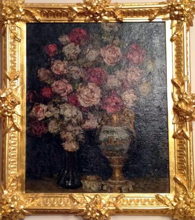 Натюрморт с розами П.И. Петровичева