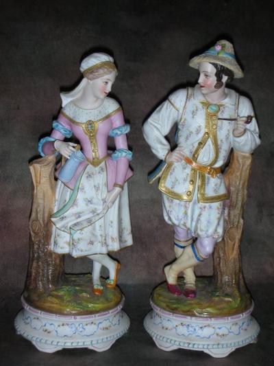Парные статуэтки Пастух и Пастушка