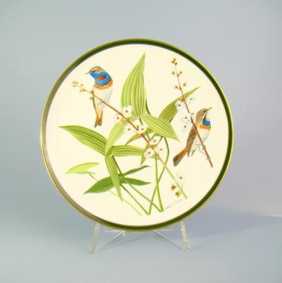 Декоративная тарелка Варакушка