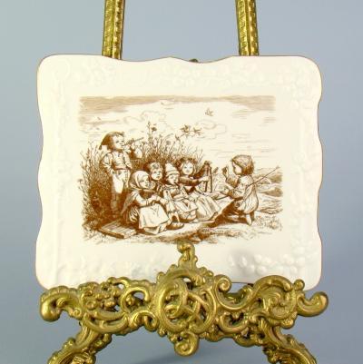 Фарфоровое панно с детишками, Meissen