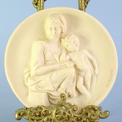 Декоративная тарелка - панно Мадонна Pensosa Италия