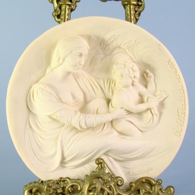 Декоративная тарелка - панно Мадонна Beata Италия