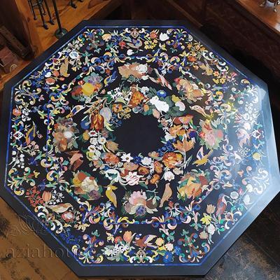 Мраморная столешница Гемма Флорентийская мозаика