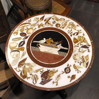 Мраморная столешница Перла Флорентийская мозаика