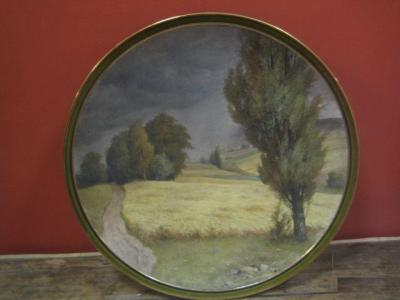 Фарфоровая настенная тарелка, 1920-е