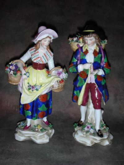 Парные статуэтки Продавцы цветов