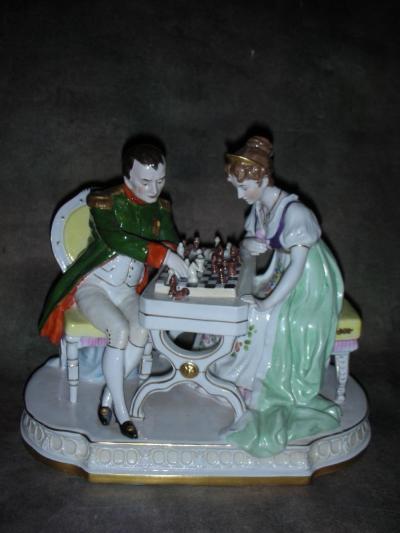 Наполеон и Жозефина за шахматным столом