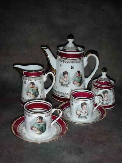 Кофейный сервиз на 2 персоны Наполеон и Жозефина