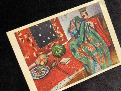 Открытка с автографом с пожеланием Анри Матисса