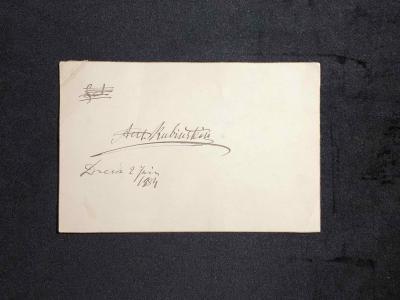 Письмо Антона Рубинштейна