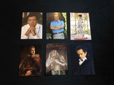 6 Фото с автографами звезд оперы