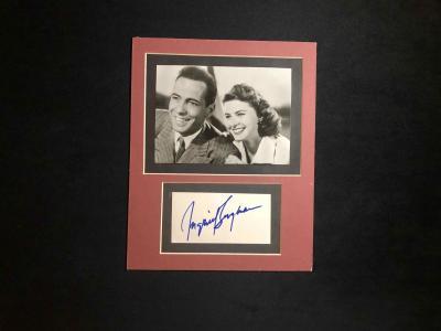Фото с автографом Ингрид Бергман