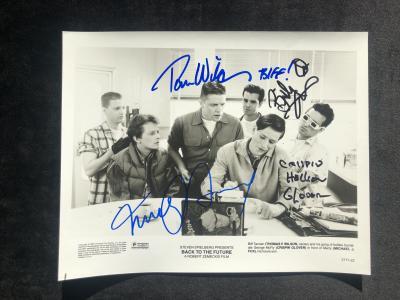 Фото с автографом Назад в будущее - все актеры