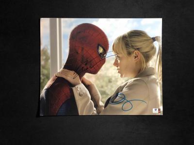 Фото с автографом Эммы Стоун и Эндрю Гарфилда / к/ф Человек-паук с девушкой 2 автографа