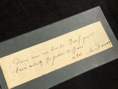 Отрывок письма Александра Дюма - отца