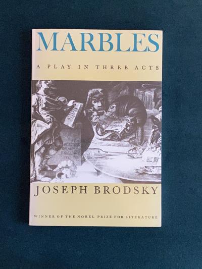 Книга Marbles с автографом Иосифа Бродского