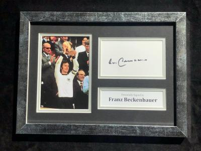 Автограф Франца Беккенбаэера