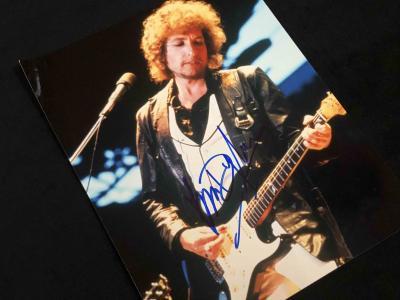 Фото с автографом Боба Дилана