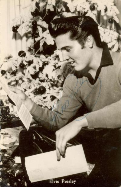 Фото с автографом Элвиса Пресли