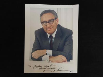 Документ с автографом Генри Киссинджера