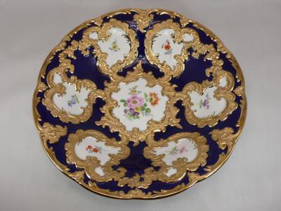 Тарелка с позолотой