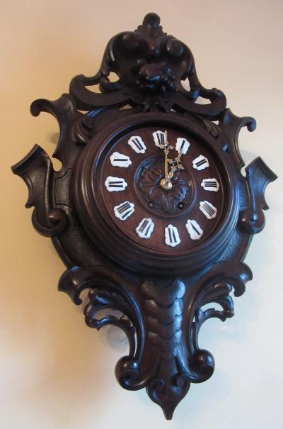 Часы резные французские