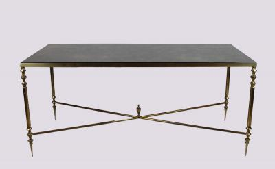 Журнальный столик из латуни