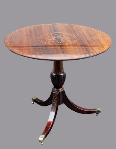 Складной стол с инкрустацией