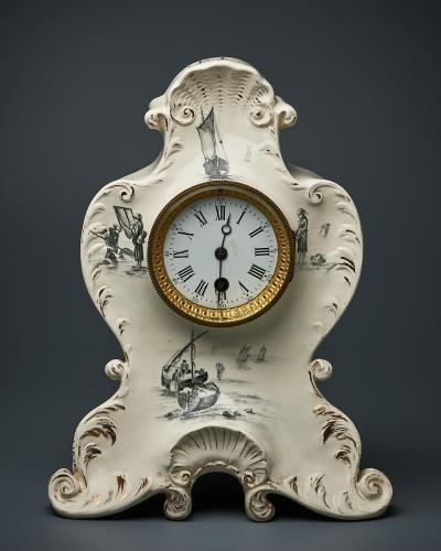 Часы каминные фарфоровые