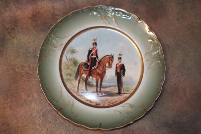 Тарелка с кавалеристами
