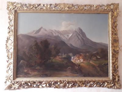 Баварская деревня в Альпах