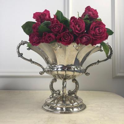 Серебряная ваза для фруктов, цветов, бисквитов