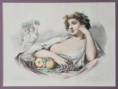 Литография Аллегория осени