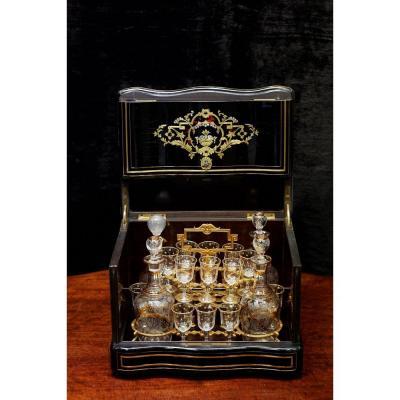 Набор хрустальных бокалов в стиле Наполеона III